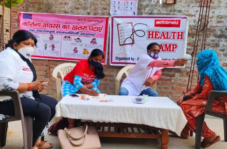 ActionAid came forward to help the needy in the Kovid epidemic