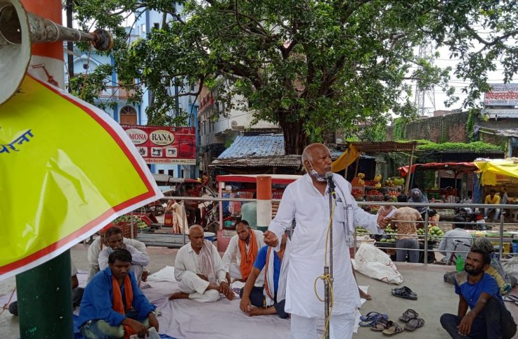 Former chairman Sudhakar Gupta to sit on dharna for the sixth consecutive day over their demands
