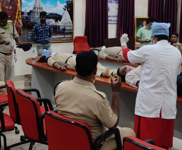 Mandasor news Blood Donation Camp concluded at ADR Bhawan Court Complex