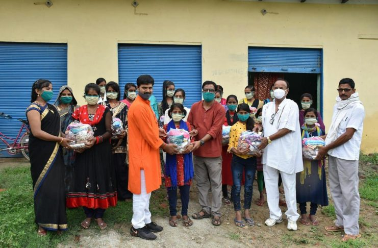 Medicine sanitization kit and nutritious food distributed among adolescent girls