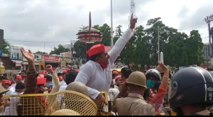 SP could not do nomination, there was a tussle with the police