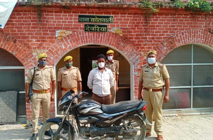 Stolen motorcycle recovered one accused arrested