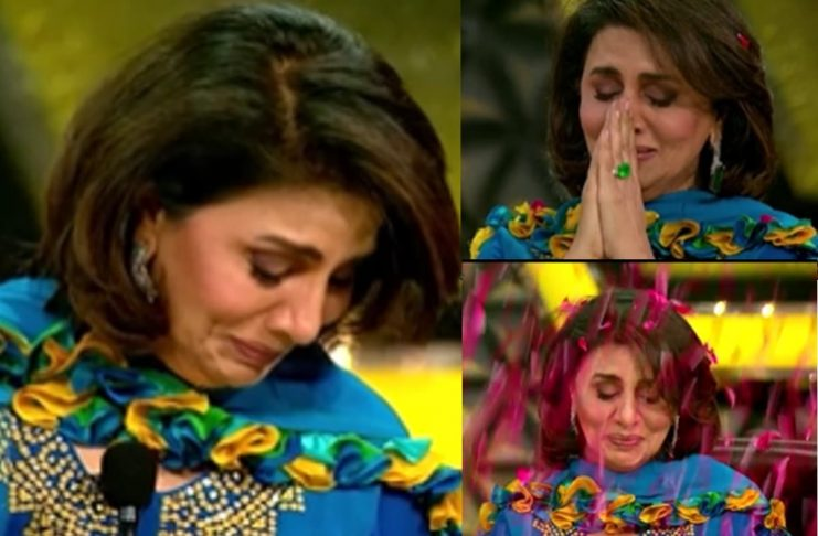 When Neetu Kapoor started crying on the stage of Super Dancer!