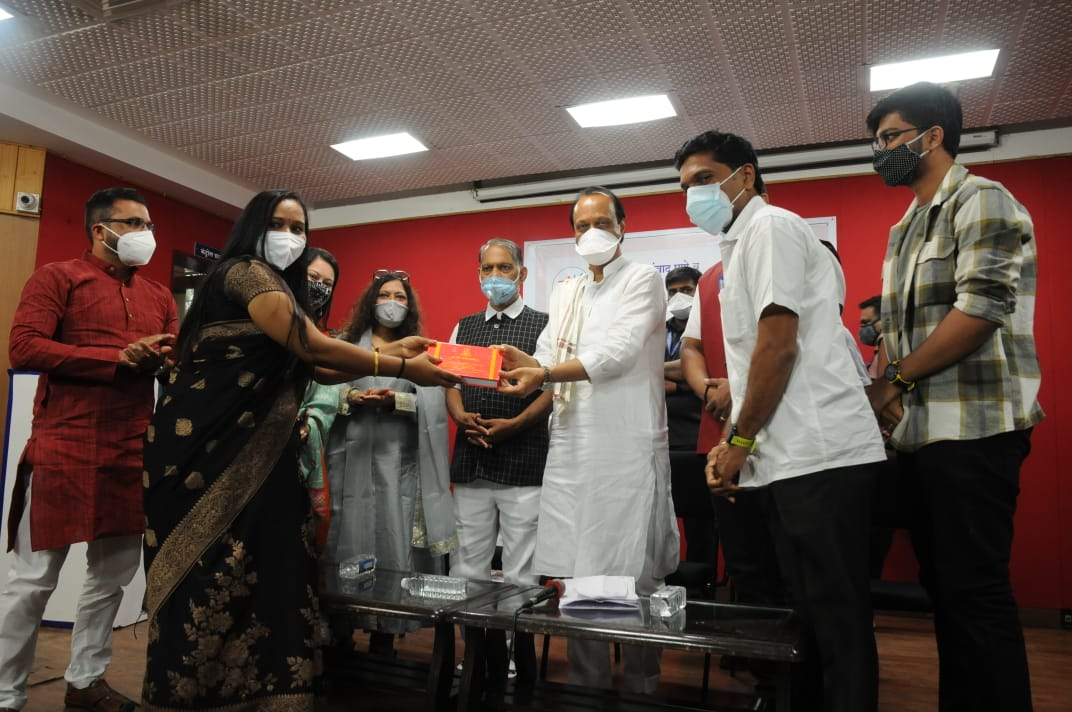 Deputy Chief Minister Ajit Pawar distributed accident insurance certificates to behind the scenes artists and technicians