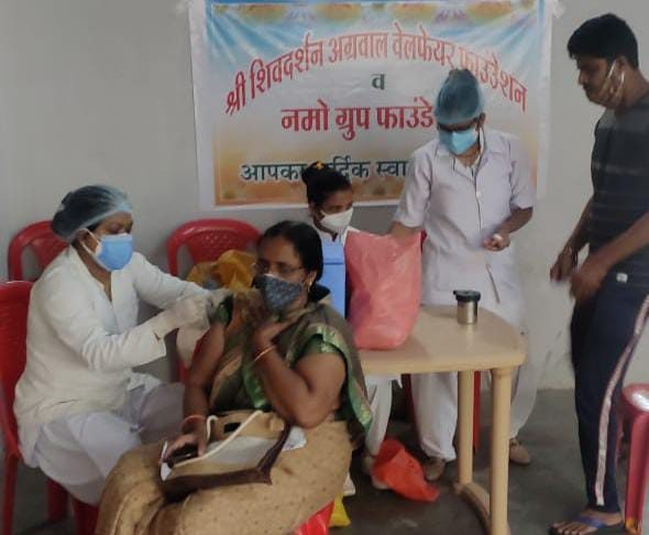 Mandsor News- The crowd for vaccination was seen deteriorating